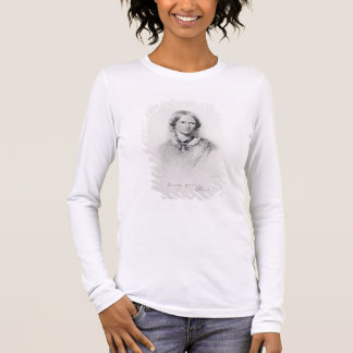 Portrait of Charlotte Bronte, engraved by Walker a Long Sleeve T-Shirt