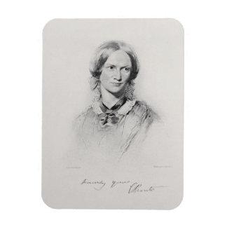 Portrait of Charlotte Bronte, engraved by Walker a Magnet