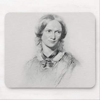 Portrait of Charlotte Bronte, engraved by Walker a Mouse Pad