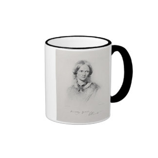 Portrait of Charlotte Bronte, engraved by Walker a Mugs