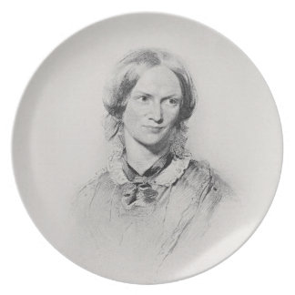 Portrait of Charlotte Bronte, engraved by Walker a Plate