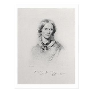 Portrait of Charlotte Bronte, engraved by Walker a Postcard