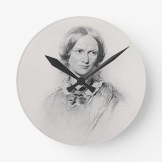 Portrait of Charlotte Bronte, engraved by Walker a Round Clock