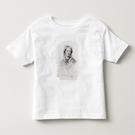 Portrait of Charlotte Bronte, engraved by Walker a Toddler T-shirt