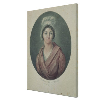 Portrait of Charlotte Corday  after 1793 Canvas Print
