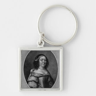 Portrait of Charlotte, Countess of Derby Silver-Colored Square Keychain