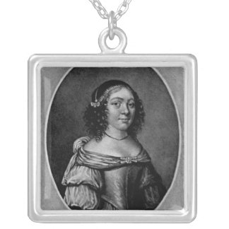 Portrait of Charlotte, Countess of Derby Silver Plated Necklace