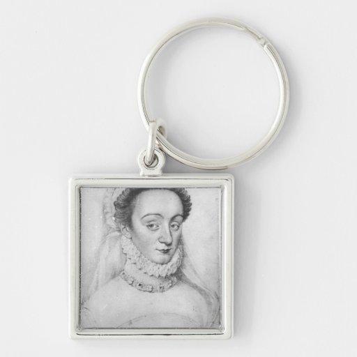 Portrait of Charlotte de Beaune  Dame de Key Chains