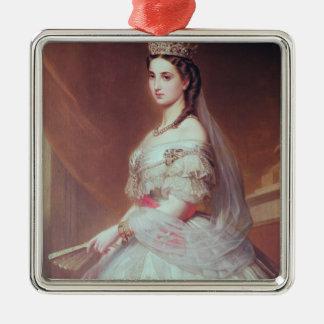Portrait of Charlotte of Saxe-Cobourg-Gotha Metal Ornament