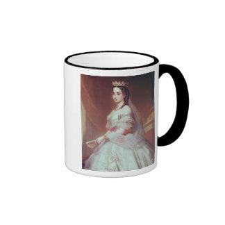 Portrait of Charlotte of Saxe-Cobourg-Gotha Ringer Coffee Mug