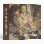 Portrait of Children, Renoir Vintage Impressionism 3 Ring Binder