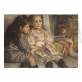 Portrait of Children Renoir Vintage Impressionism Cards