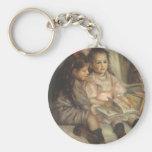 Portrait of Children, Renoir Vintage Impressionism Keychains