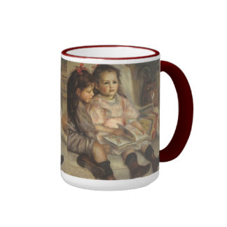 Portrait of Children, Renoir Vintage Impressionism Ringer Coffee Mug