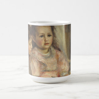 Portrait of Children, Renoir Vintage Impressionism Classic White Coffee Mug