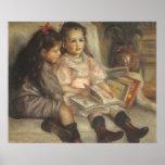 Portrait of Children, Renoir Vintage Impressionism Posters