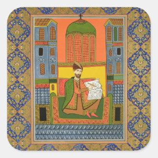 Portrait of Chota Rustaveli (c.1172-c.1216) after Sticker