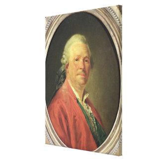 Portrait of Christoph Willibald von Gluck , 1777 Canvas Print