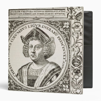 Portrait of Christopher Columbus 3 Ring Binder