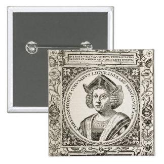 Portrait of Christopher Columbus Button