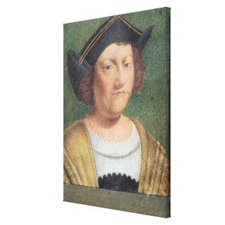 Portrait of Christopher Columbus Canvas Print
