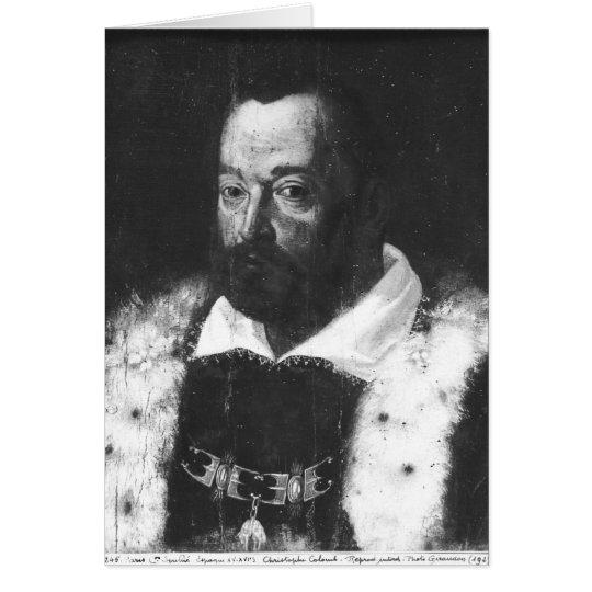 Portrait of Christopher Columbus Card