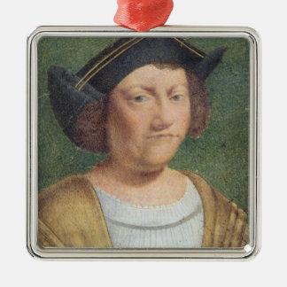 Portrait of Christopher Columbus Christmas Tree Ornament
