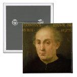 Portrait of Christopher Columbus Pinback Button
