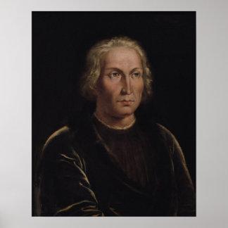 Portrait of Christopher Columbus Print