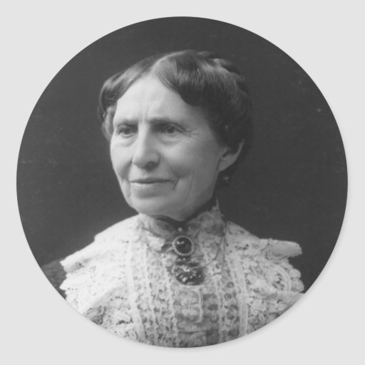 Portrait of Clara Barton Later in Life Round Sticker