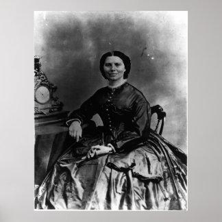 Portrait of Clara Barton Poster