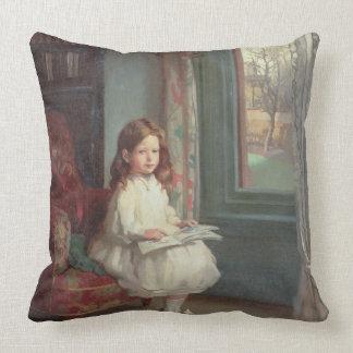 Portrait of Clara Hughes, 1902 (oil on canvas) Throw Pillow