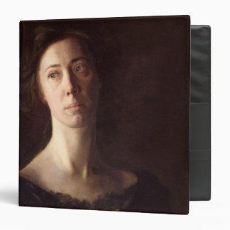 Portrait of Clara J. Mather 3 Ring Binder