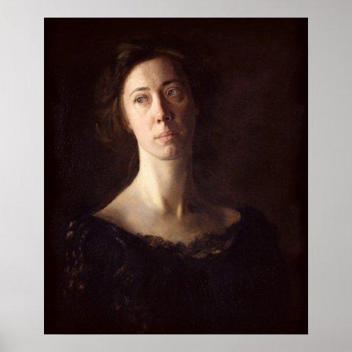 Portrait of Clara J. Mather Poster