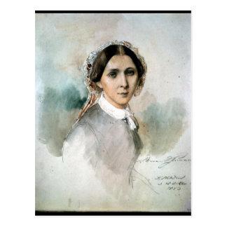Portrait of Clara Schumann  1853 Postcard