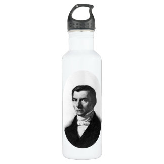 Portrait of Classical Liberal Frederic Bastiat 24oz Water Bottle