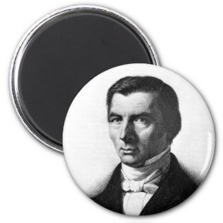 Portrait of Classical Liberal Frederic Bastiat 2 Inch Round Magnet
