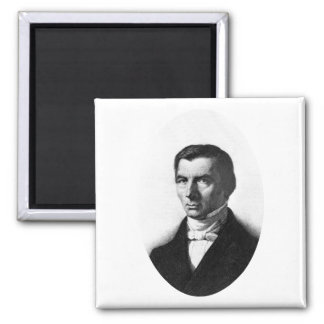 Portrait of Classical Liberal Frederic Bastiat 2 Inch Square Magnet