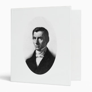 Portrait of Classical Liberal Frederic Bastiat 3 Ring Binder