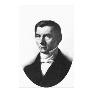 Portrait of Classical Liberal Frederic Bastiat Stretched Canvas Print