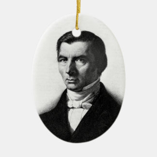 Portrait of Classical Liberal Frederic Bastiat Double-Sided Oval Ceramic Christmas Ornament