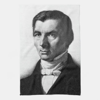 Portrait of Classical Liberal Frederic Bastiat Towel
