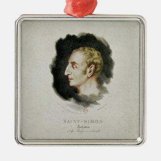 Portrait of Claude Henri de Rouvroy Metal Ornament