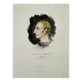Portrait of Claude Henri de Rouvroy Postcard