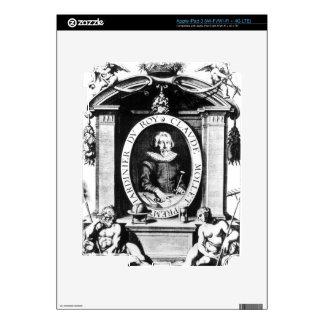Portrait of Claude Mollet, frontispiece to 'Theatr iPad 3 Decals