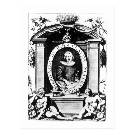 Portrait of Claude Mollet, frontispiece to 'Theatr Post Card