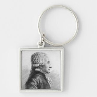 Portrait of Claude Valdec de Lessart Silver-Colored Square Keychain