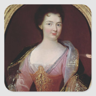 Portrait of Claudine Alexandrine Guerin Square Sticker