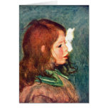 Portrait of Coco by Pierre Renoir Greeting Cards