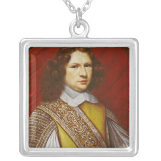 Portrait of Coeffier de Ruze d'Effiat  Marquis Silver Plated Necklace